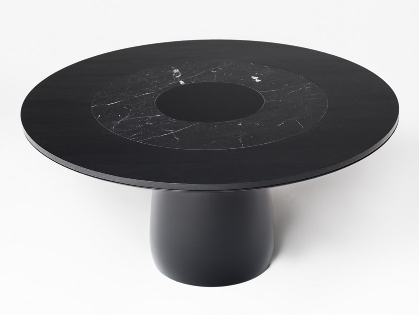 Lacquered round dining table ROUNDEL | Table by BALERI ITALIA