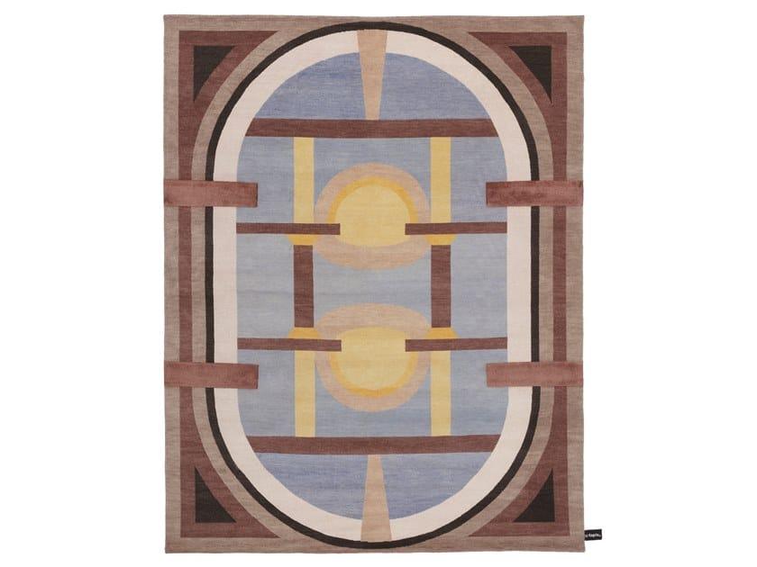 Handmade rectangular rug ROVERELLA by cc-tapis