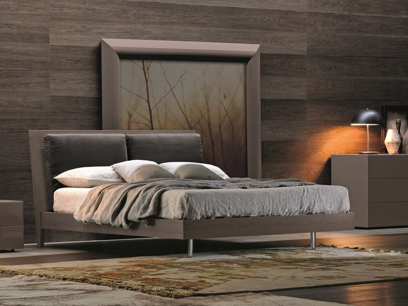 Melamine-faced chipboard bed double bed ROYAL SOFT by Febal Casa
