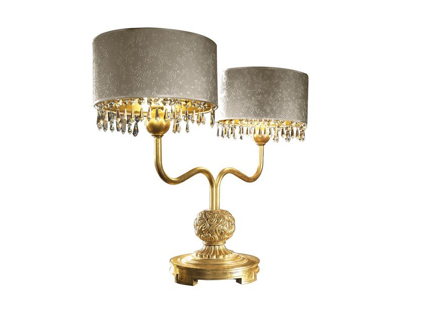 Table lamp ROYAL | Imitation leather table lamp by A.R. Arredamenti