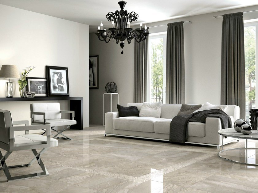Porcelain stoneware flooring with marble effect ROYALE | Flooring by Ragno