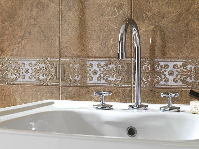 Porcelain stoneware wall tiles with marble effect ROYALE   Wall tiles by Ragno