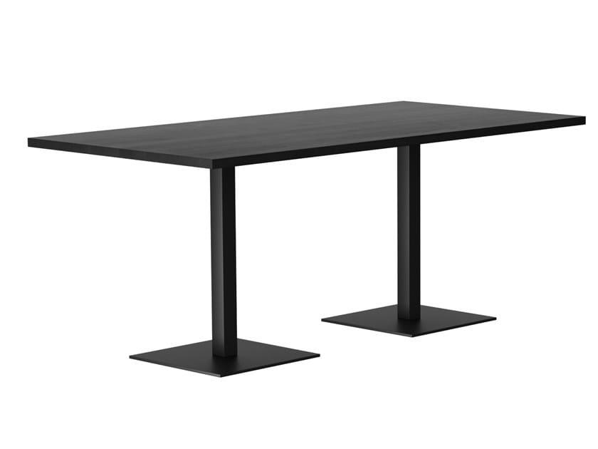 Tavolo rettangolare in legno massello RQ LIGHT   Tavolo in legno massello by horgenglarus