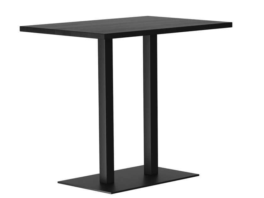 Tavolo alto rettangolare in legno massello RQ LIGHT | Tavolo in legno by horgenglarus