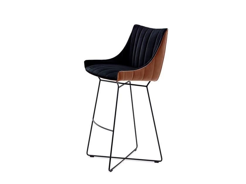 Barstool with armrests RUBIE BAR ARMCHAIR LOW by Freifrau