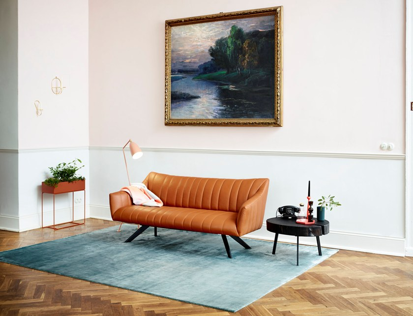 Rubie Freifrau Lounge In A Divano Pelle 3 Posti Couch O80Pknw
