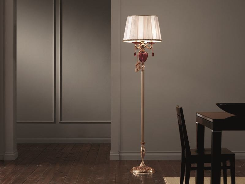 Floor lamp with Swarovski® crystals RUBINO ALICANTE PT3+1 by Euroluce Lampadari