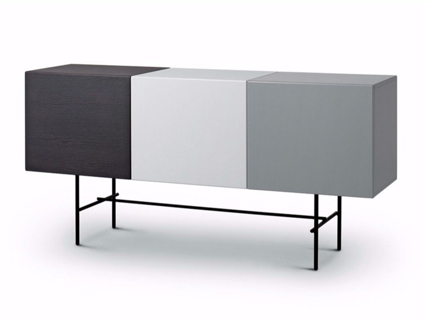 Lacquered sideboard with doors RUBYCON | Lacquered sideboard by arflex