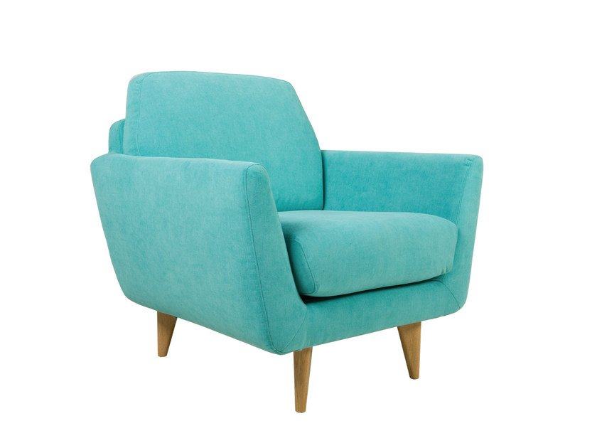 Upholstered fabric armchair with armrests RUCOLA | Armchair by SITS