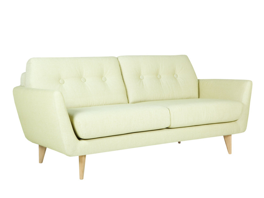 Tufted upholstered 2 seater fabric sofa RUCOLA | Tufted sofa by SITS