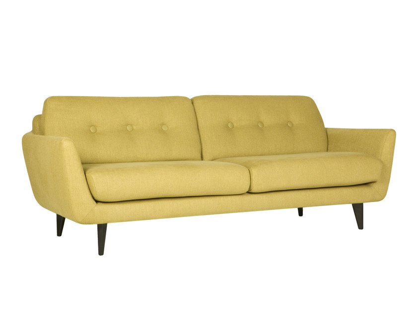 Tufted upholstered 3 seater fabric sofa RUCOLA | Tufted sofa by SITS