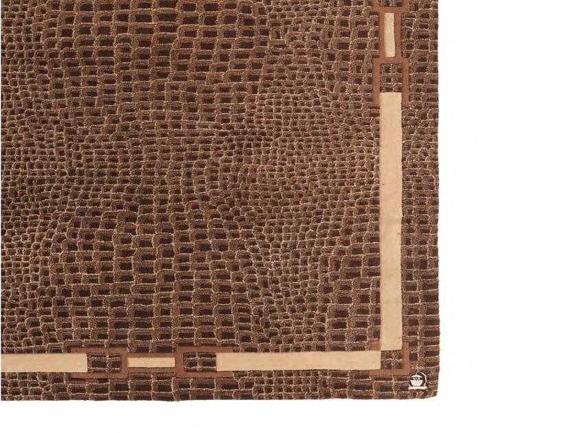 Handmade rectangular wool rug COCCO RUG by Formitalia