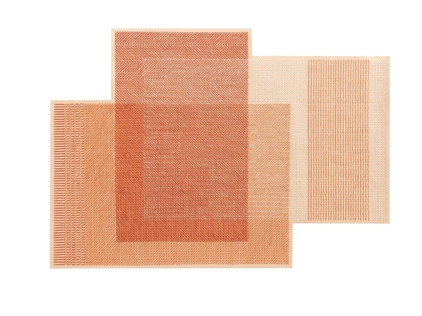 Wool rug CANEVAS GEO CORAL | Rug by GAN