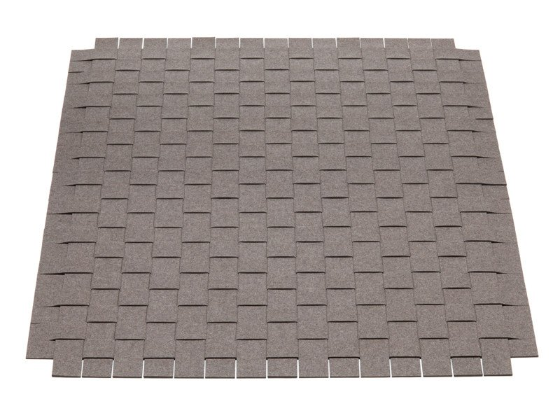 Solid-color square felt rug Felt rug by HEY-SIGN