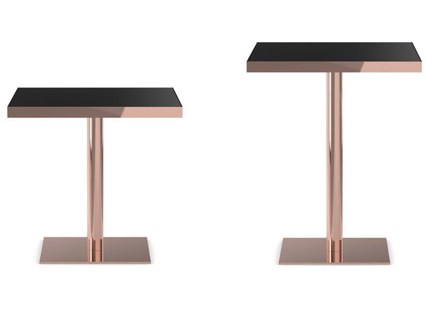 Tavolo quadrato in metallo RUM by Wiener GTV Design
