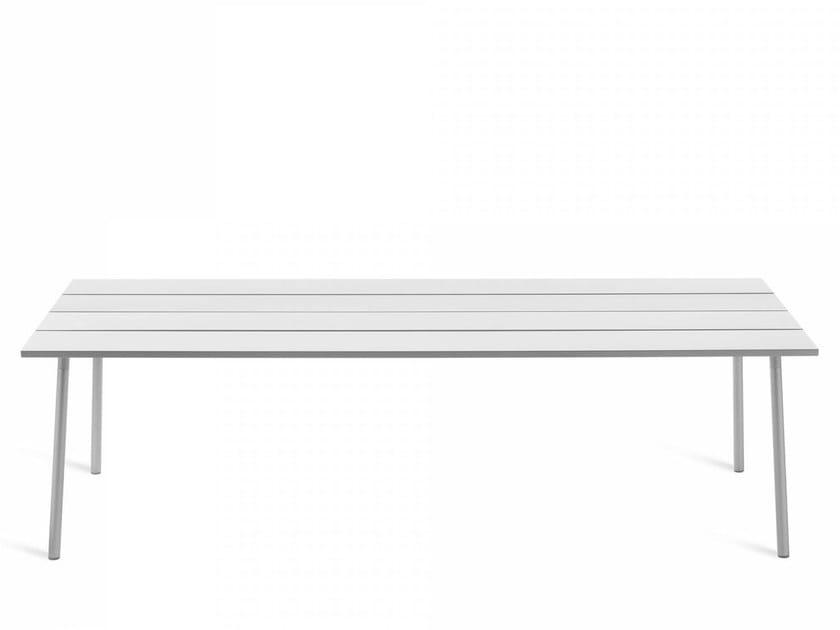 Tavolo rettangolare in alluminio RUN | Tavolo in alluminio by Emeco