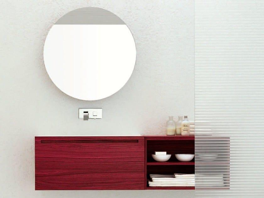 Single zebrano vanity unit RUSH - COMPOSITION 5 by Arcom
