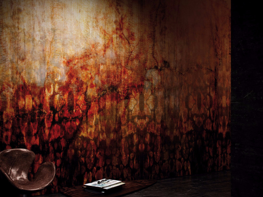 Washable Vinyl Wallpaper Rust Element Collection By