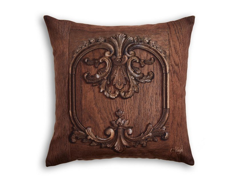 Square cushion RUSTIC LOUIS XV PANELLING by Koziel