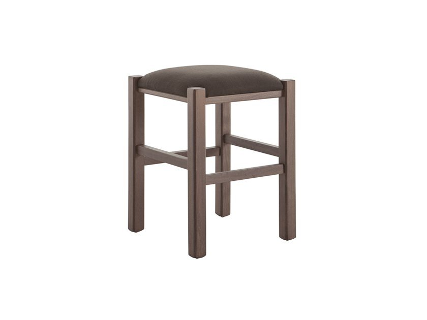 Low upholstered beech stool RUSTICA 425Z.i1 by Palma