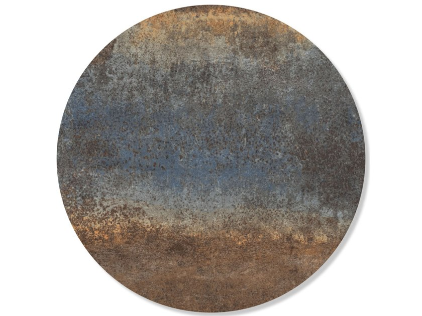 Decorazione adesiva a motivi in vinile RUSTY METAL BLUE by Groovy Magnets