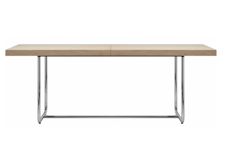 Extending rectangular table S 1071 by THONET
