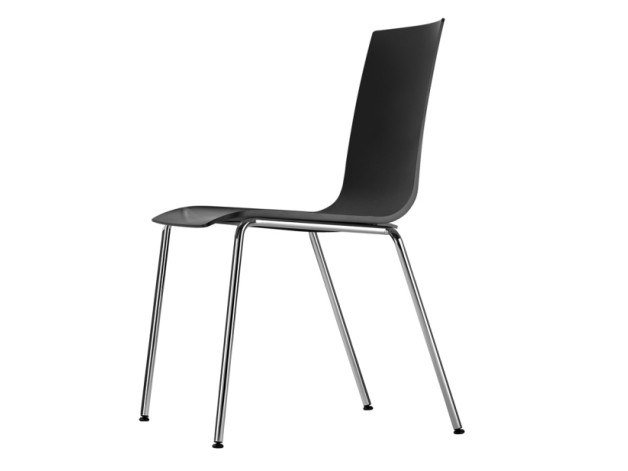 Stackable plastic chair S 161 by Thonet