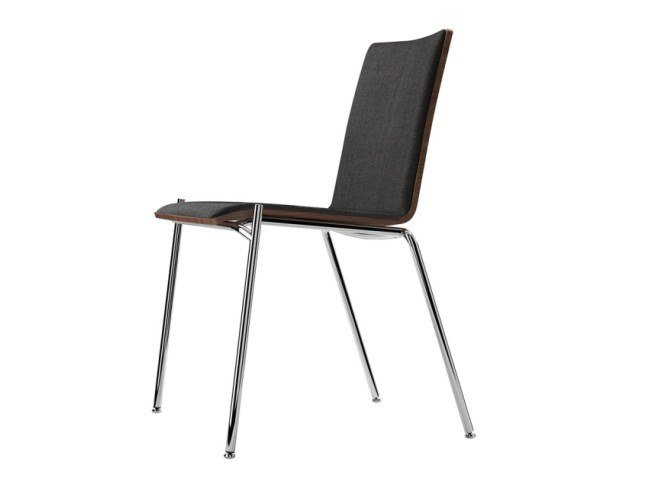 Stackable plywood chair S 162 P by THONET