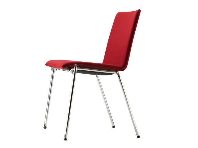 Upholstered stackable chair S 162 PV by THONET