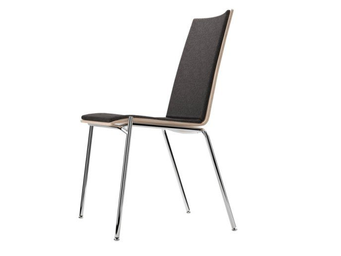 Upholstered stackable chair S 164 P by THONET