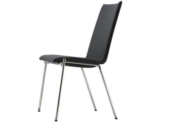Cadeira estofada empilhável de madeira compensada S 164 PV by THONET