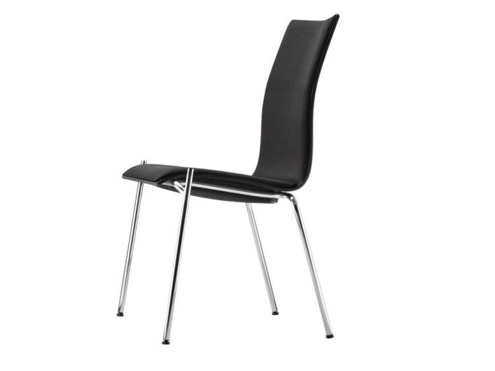 Upholstered stackable chair S 168 P by THONET