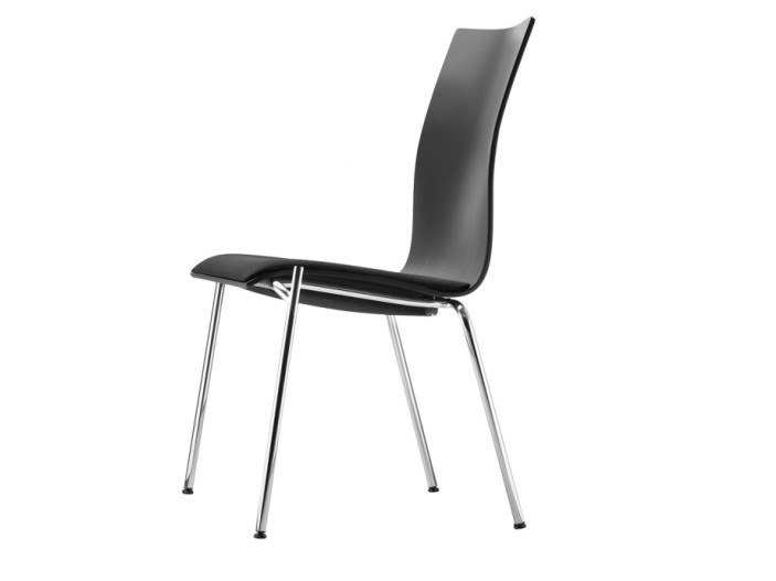 Stackable plywood chair S 168 SP by Thonet