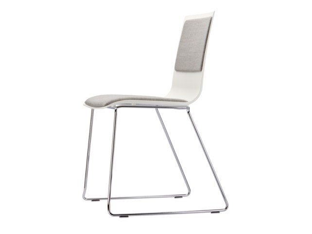 Sled base stackable chair S 180 PST by THONET