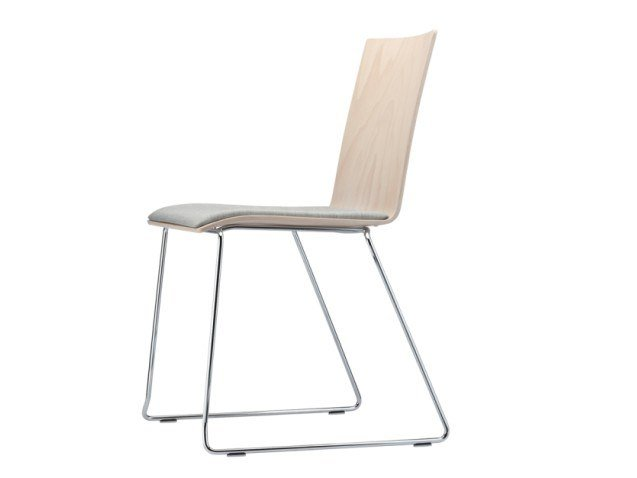 Sled base plywood chair S 182 SPST by Thonet