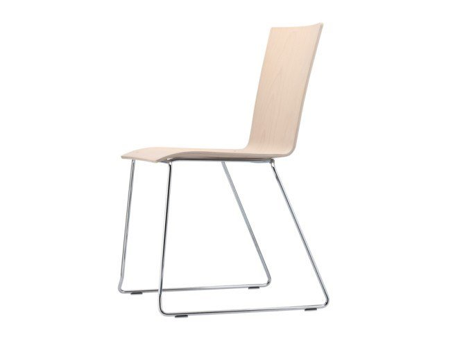 Sled base stackable chair S 182 ST by THONET