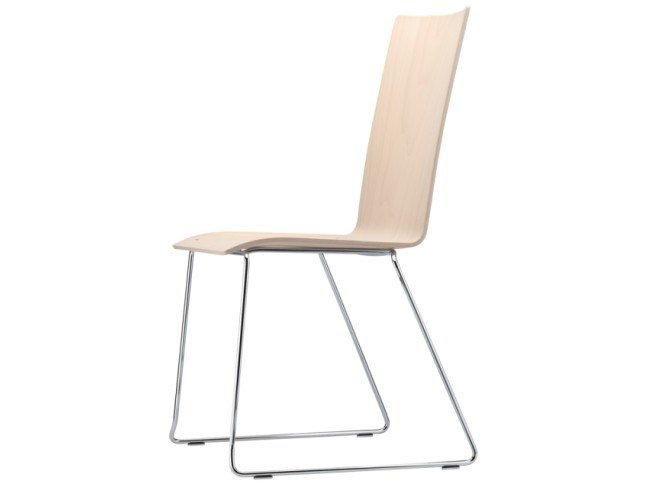 Sled base chair with armrests S 184 ST by THONET