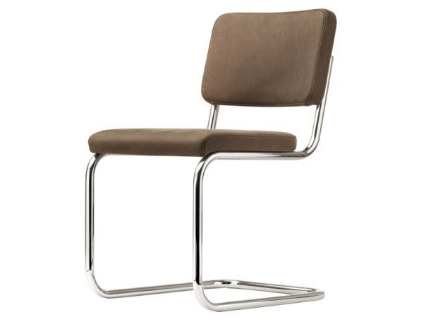 Cantilever upholstered chair S 32 PV by Thonet