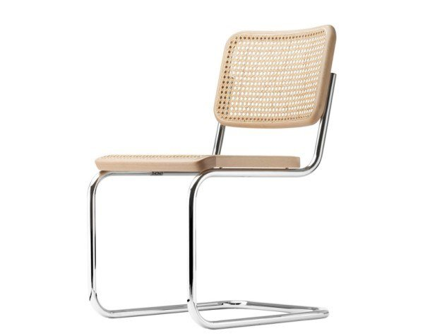 Cantilever chair with supporting synthetic mesh S 32 V by Thonet