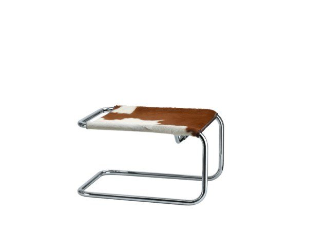 Cowhide footstool S 35 LVH by THONET
