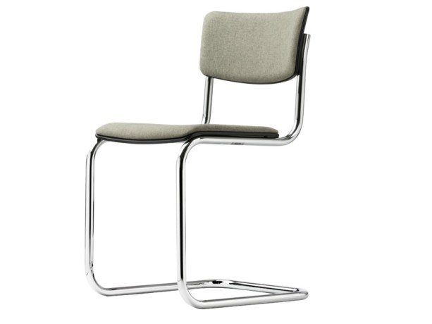 Cantilever upholstered chair S 43 PV by THONET