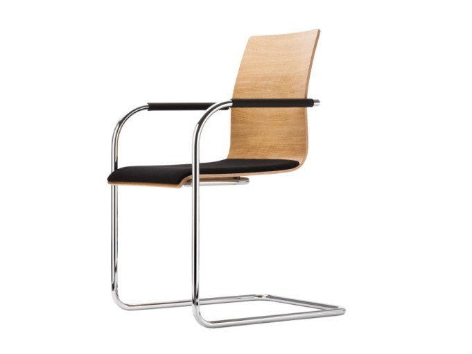 Cantilever chair with armrests S 53 SPF by THONET