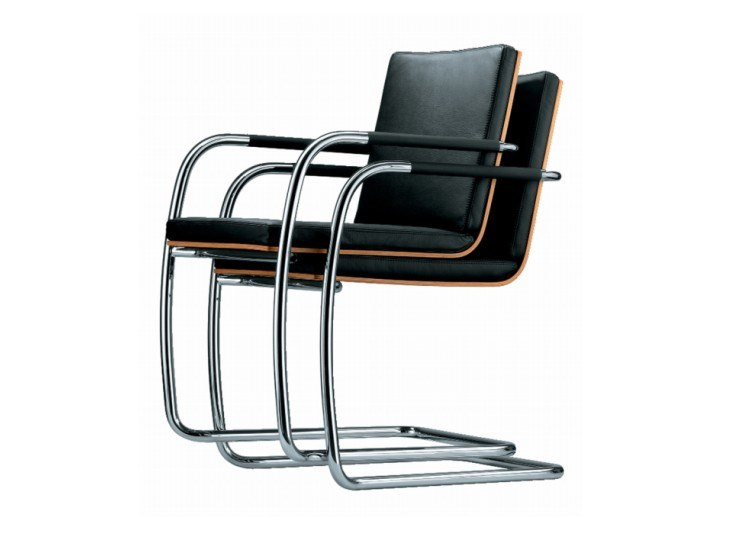 Cantilever stackable chair with armrests S 60 ST by THONET
