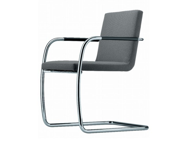 Cantilever upholstered chair with armrests S 60 V by THONET