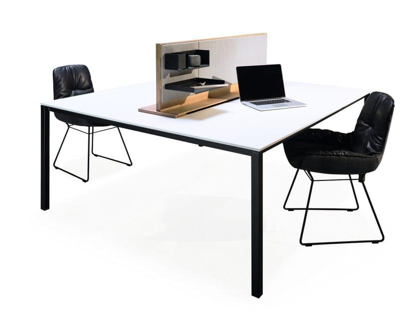 Rechteckiger Tisch aus HPL S600 | Tisch aus HPL by JANUA