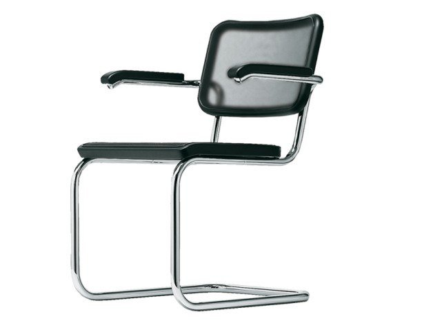Cantilever mesh chair with armrests S 64 N by Thonet