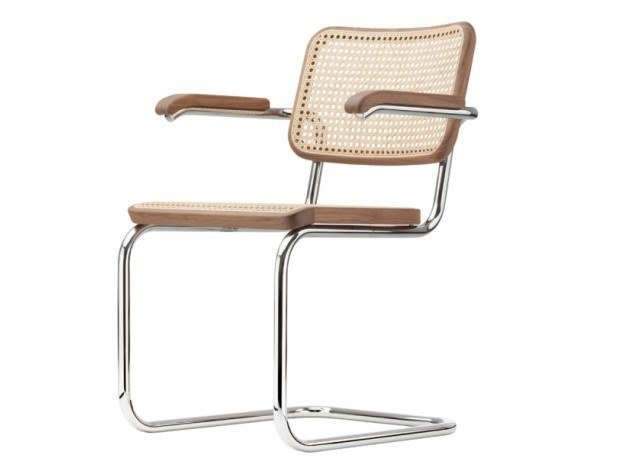 Cantilever chair with supporting synthetic mesh S 64 V by THONET