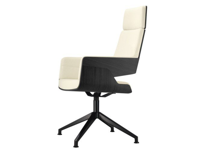 Upholstered high-back chair S 847 DE by THONET
