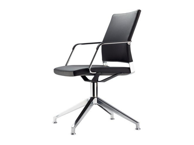 Swivel task chair with armrests S 95 PFD by THONET