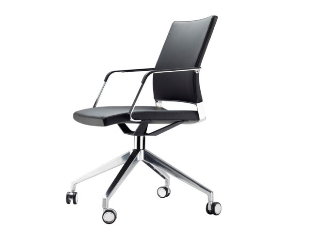 Swivel task chair with casters S 95 PFR by THONET